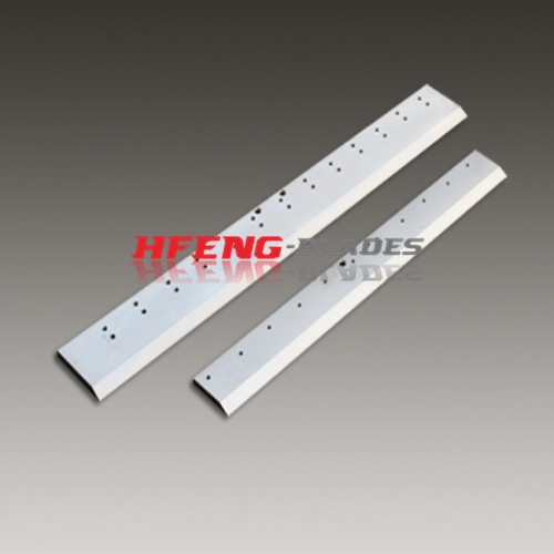 Paper guillotine cutting blades